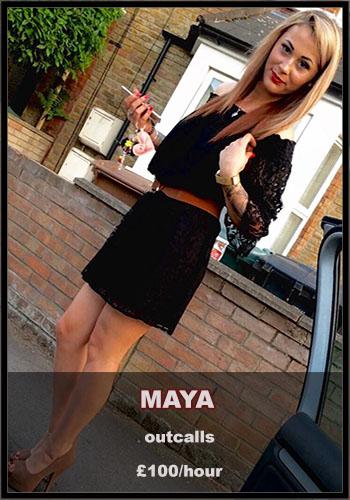 blonde escort maya